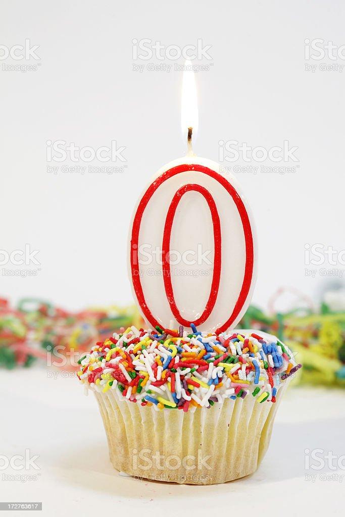 Zero Party Cake royalty-free stock photo
