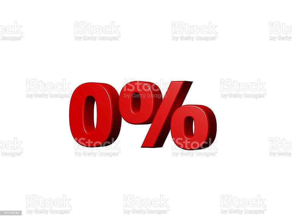 Zero percent royalty-free stock photo