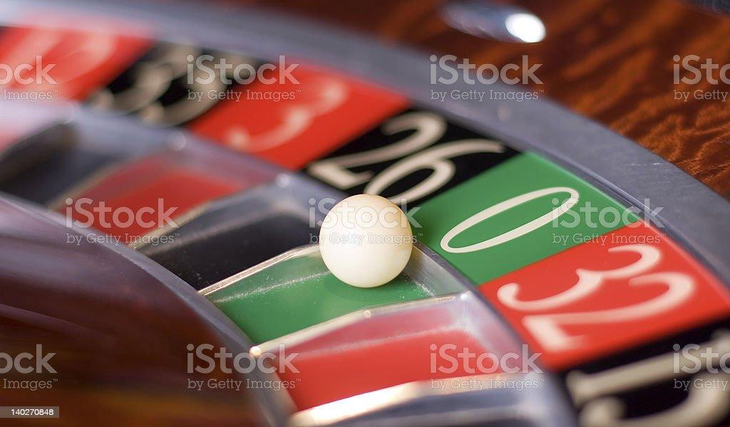 Zero!! Roulette in casino royalty-free stock photo