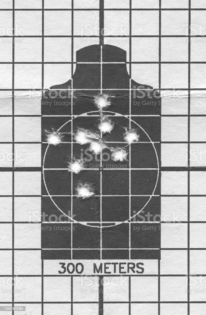 M16 Zero Target Closeup with Clipping Path royalty-free stock photo