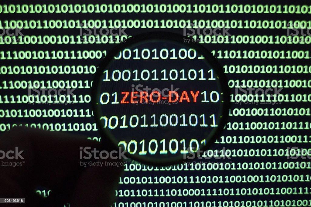 Zero-Day Threat stock photo