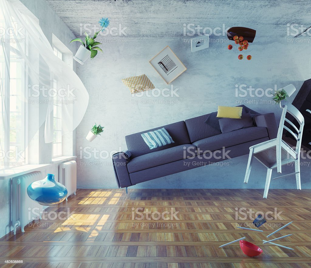 zero-gravity interior. stock photo