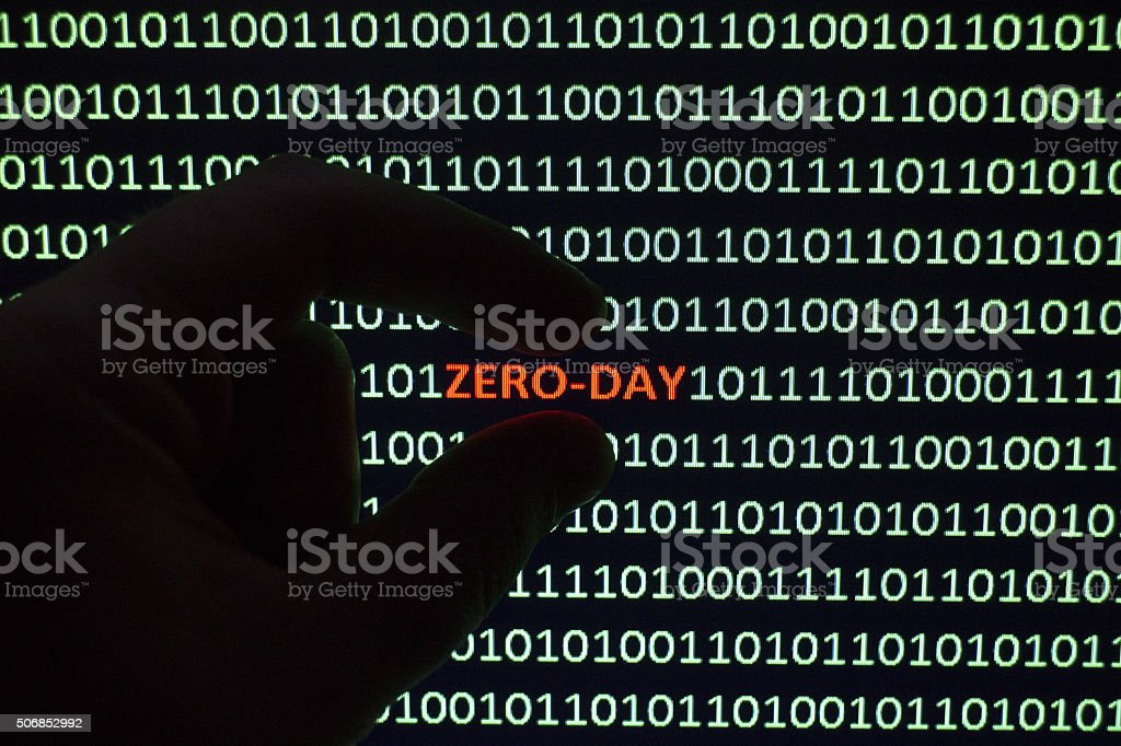 Zero-Hour Exploit stock photo