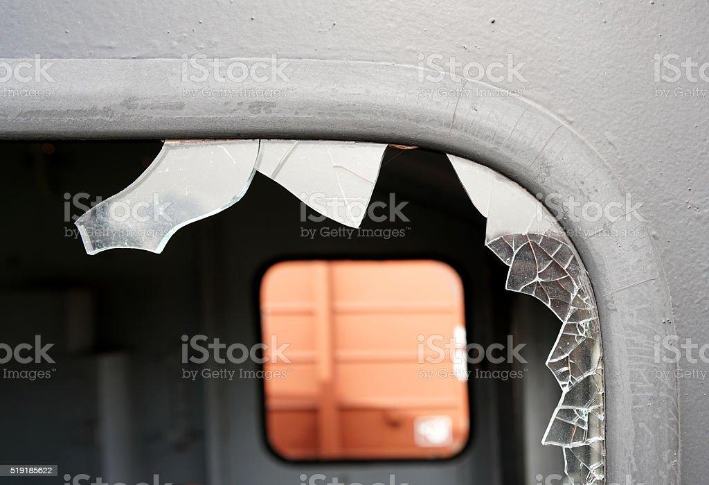 zerstörtes Fenster stock photo