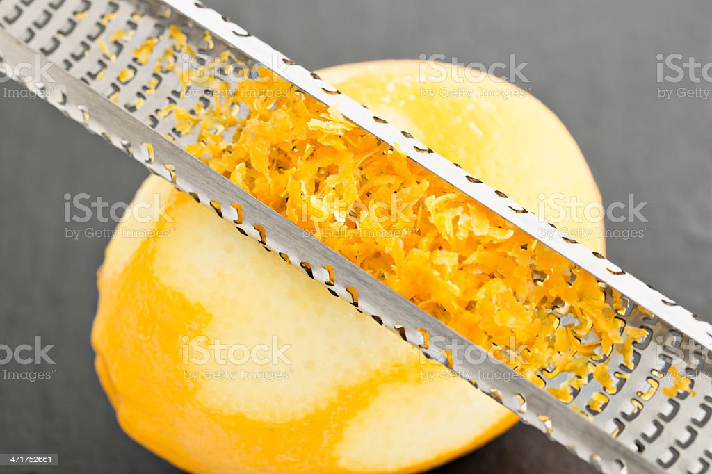 Zesting A Lemon stock photo
