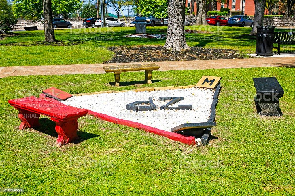 Zeta Phi Beta Sorority artwork on Fisk University campus, Nashville stock photo