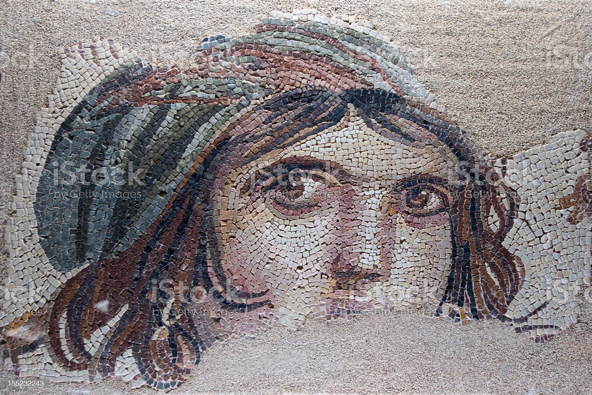zeugma mosaic royalty-free stock photo