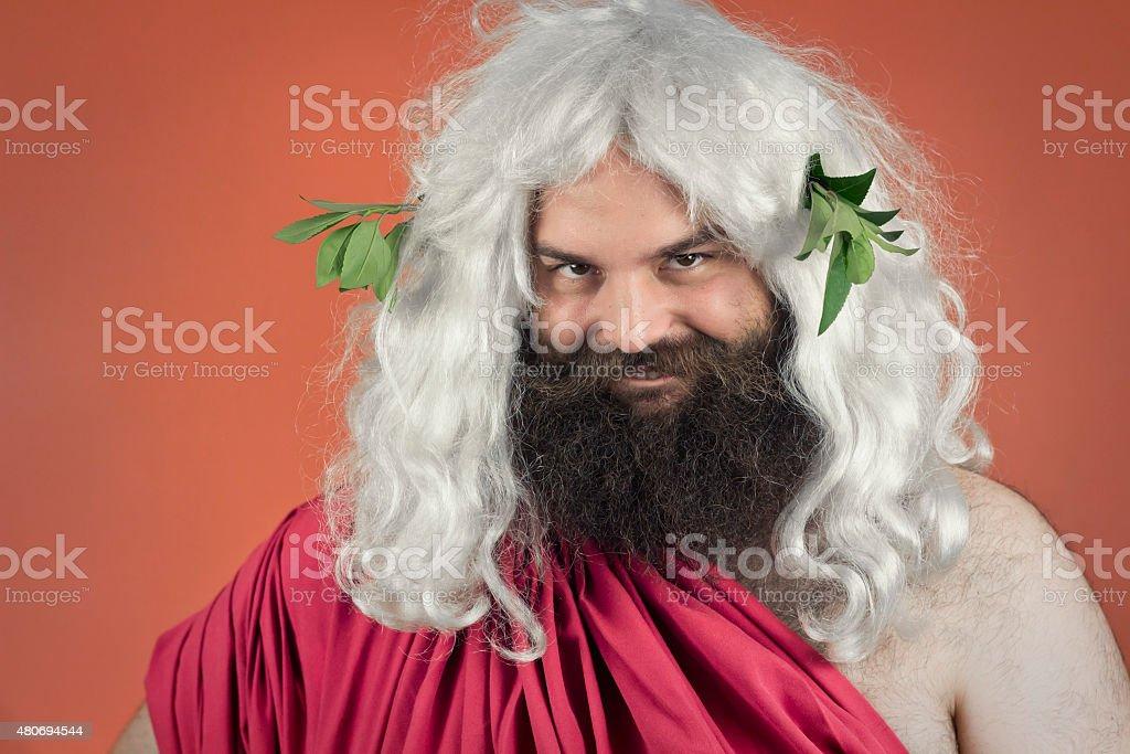 Zeus Biting Lip stock photo