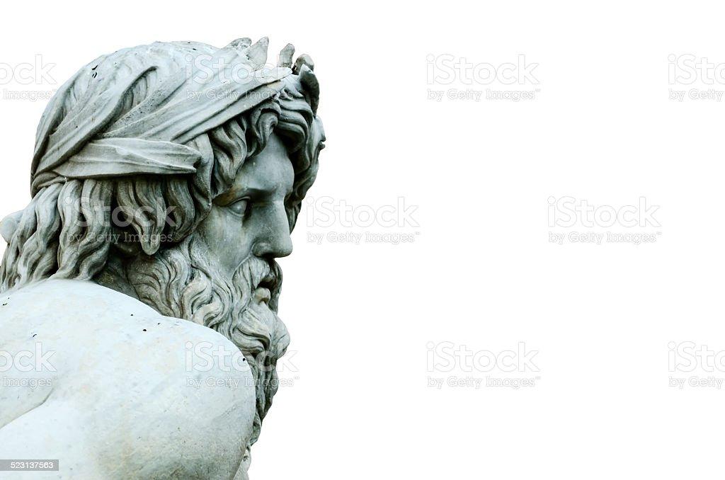 Zeus Statue cropped in Bernini's Fountain, Piazza Navona, Rome I stock photo