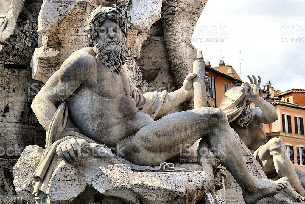 Zeus Statue royalty-free stock photo