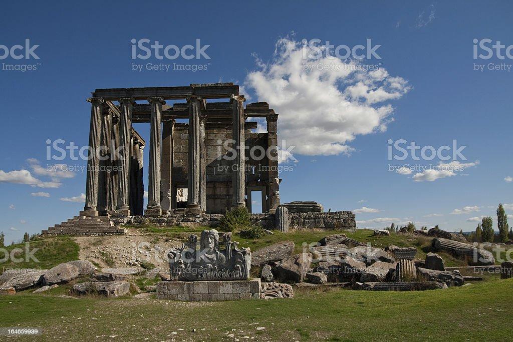 Zeus Temple, Aizonai, Kutahya, Turkey stock photo