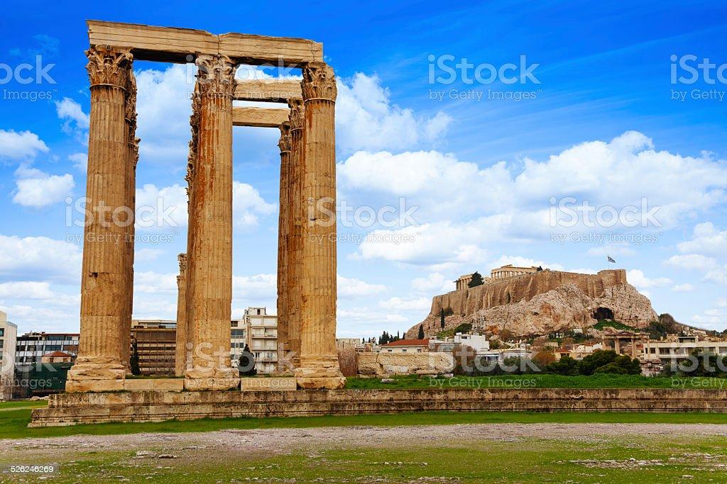 Zeus temple, Athens, Greece stock photo