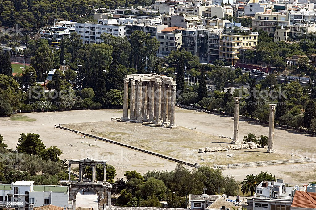 Zeus Temple, Athens royalty-free stock photo
