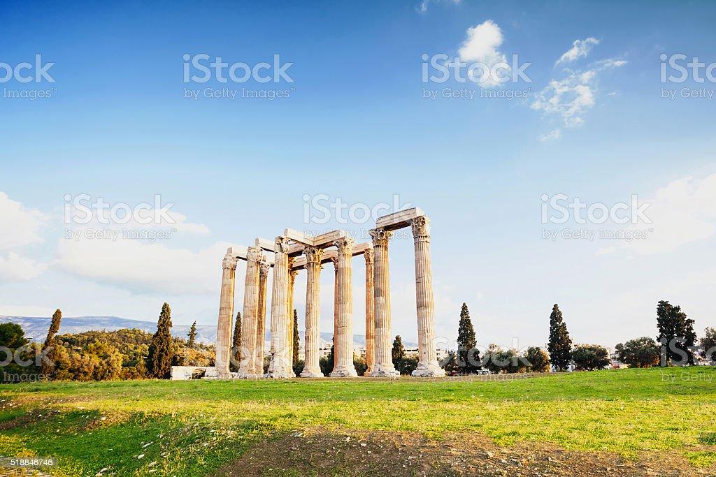 Zeus temple in Athens stock photo
