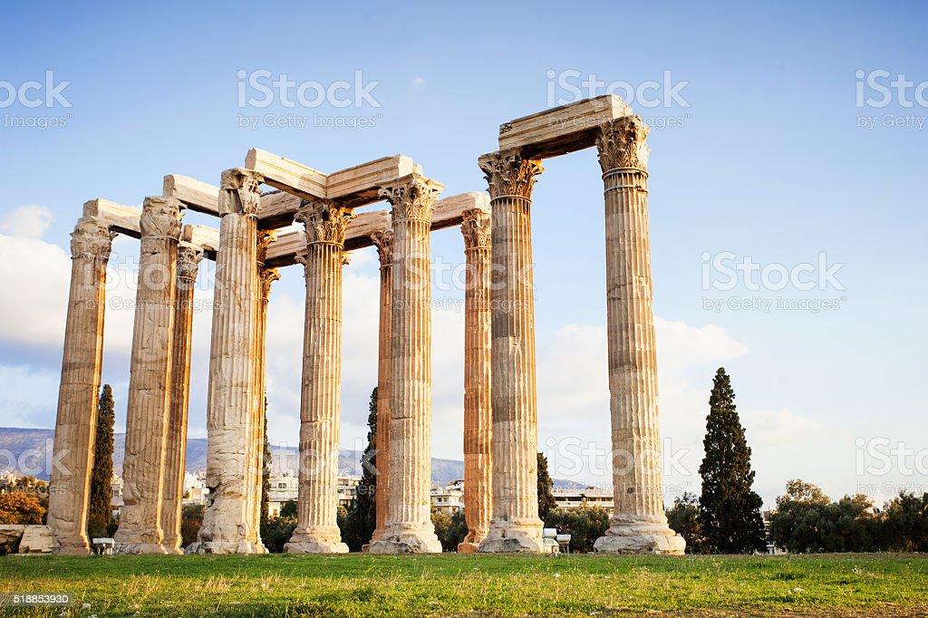 Zeus temple in Athens stock photo
