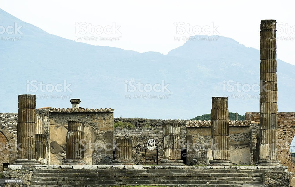 Zeus temple in Pompeii royalty-free stock photo