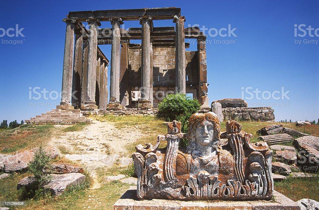 Zeus Temple Of Aizonai stock photo