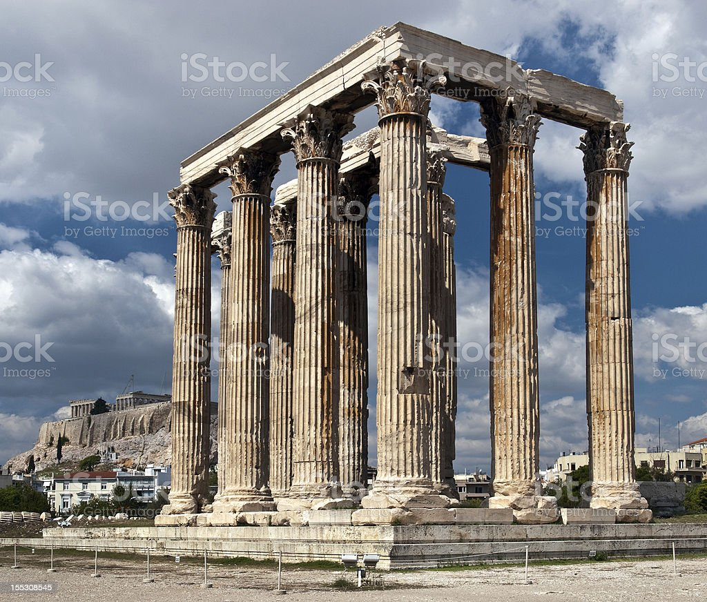 Zeus' Temple royalty-free stock photo
