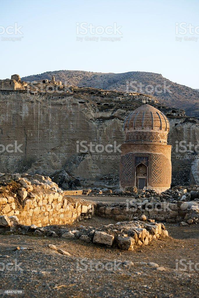 Zeynel Bey Tomb, Hasankeyf royalty-free stock photo
