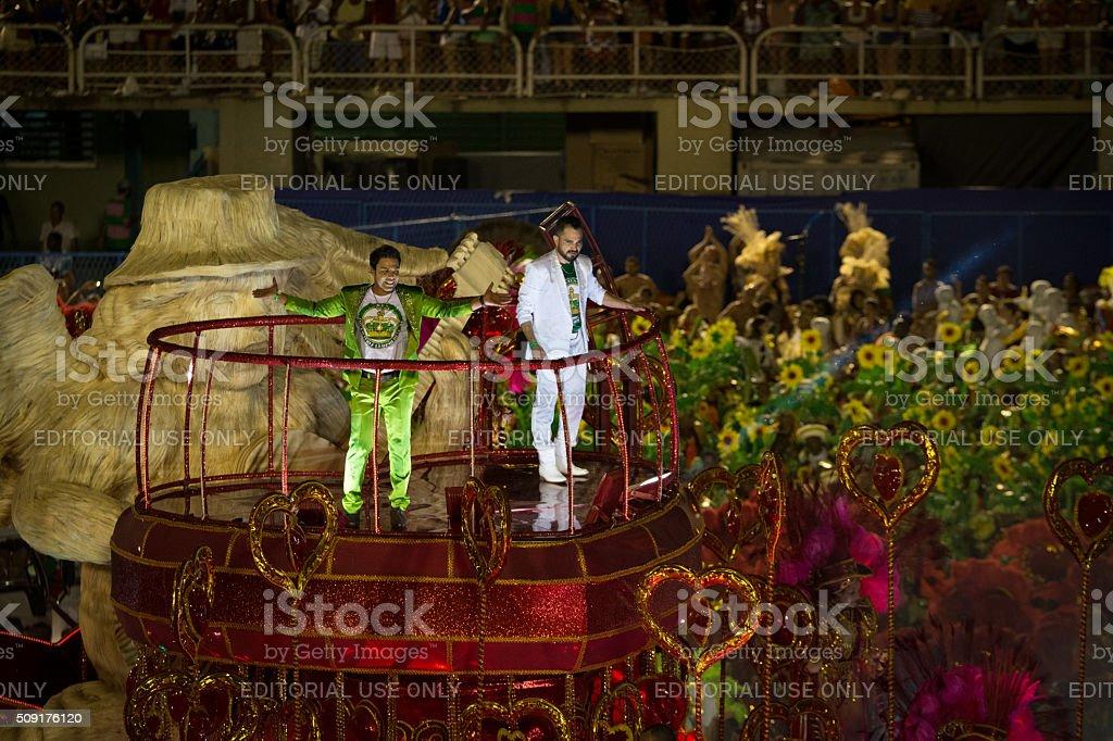 Zezé di Camargo & Luciano on a float royalty-free stock photo