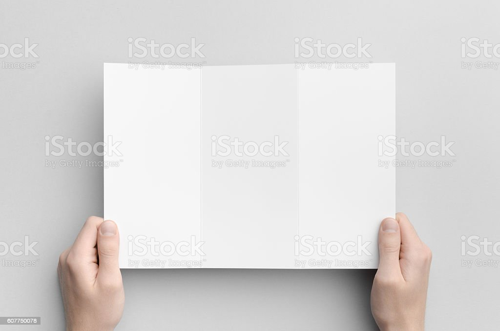 A4 Z-Fold Brochure Mock-Up stock photo