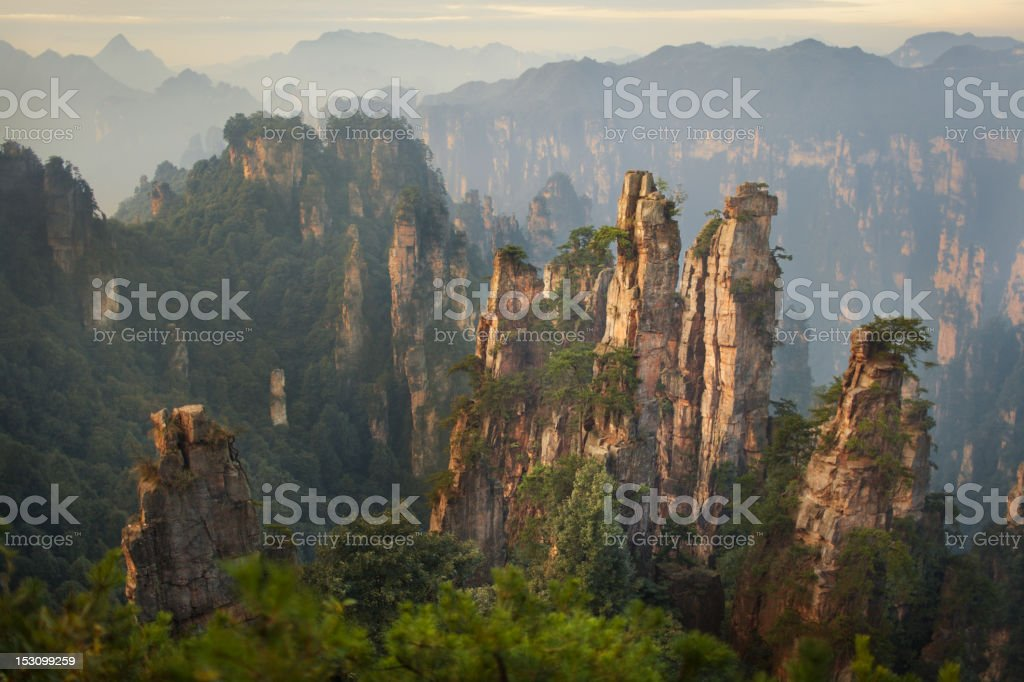Zhangjiajie Landscapes stock photo