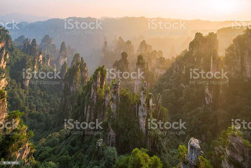 Zhangjiajie National Forest Park, Hunan, China stock photo