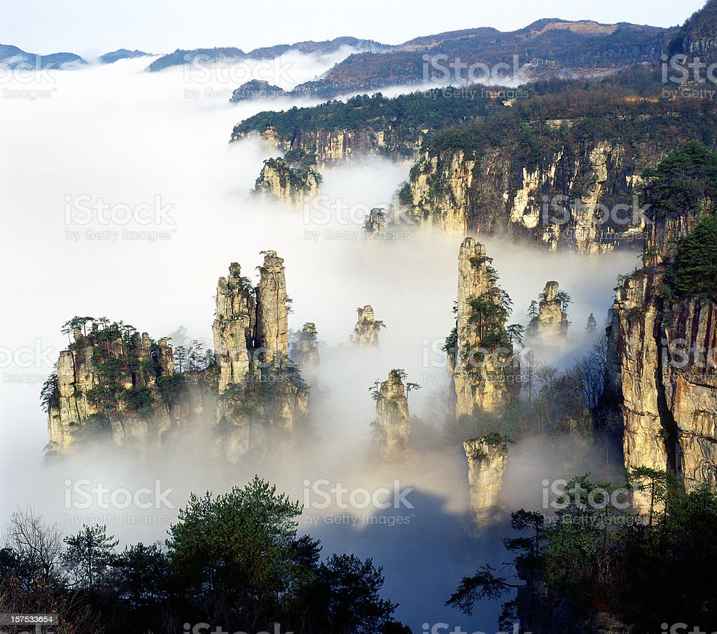 Zhangjiajie National Forest stock photo
