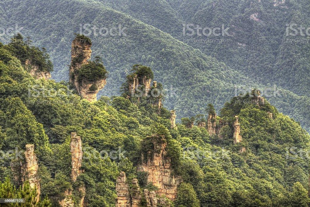 zhangjiajie national park hunan province china stock photo