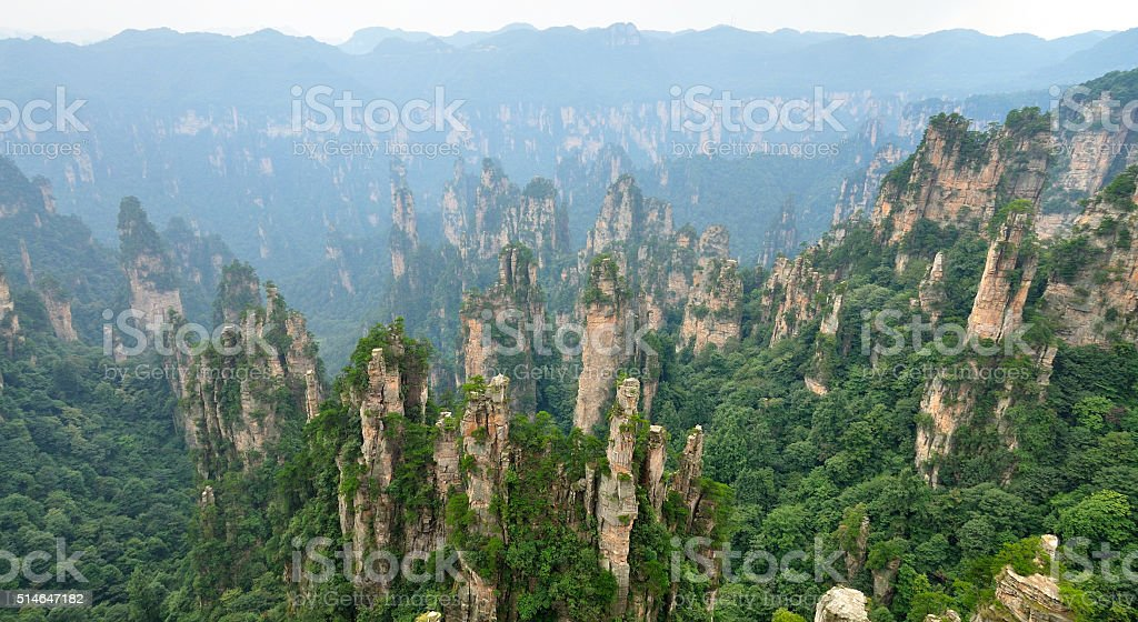Zhangjiajie National Park in Hunan, China stock photo