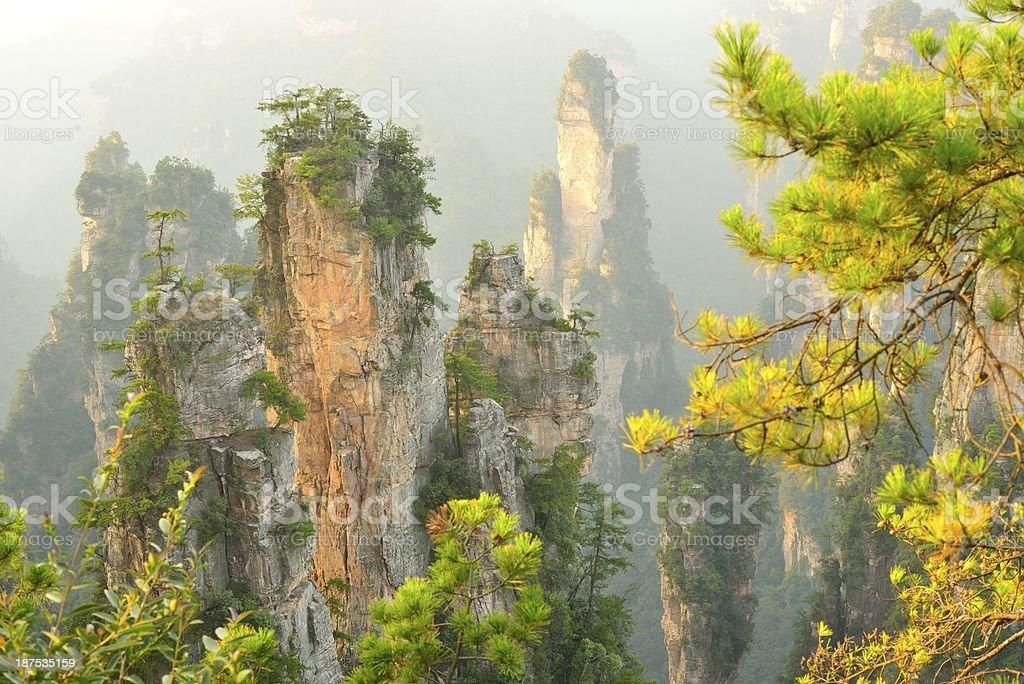 Zhangjiajie National Park of China stock photo