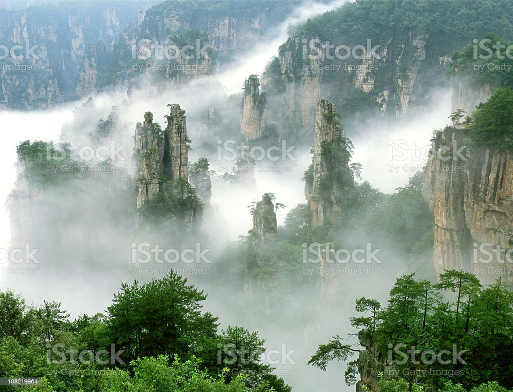 Zhangjiajie National Park stock photo