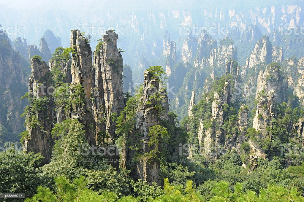 Zhangjiajie natural scenery in China stock photo