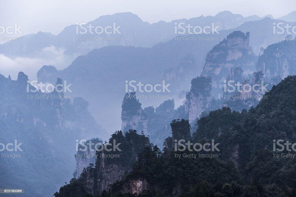 Zhangjiajie scenic area stock photo