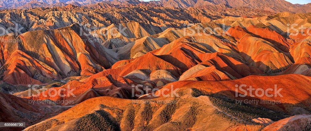 Zhangye Danxia Landform, Gansu, China stock photo