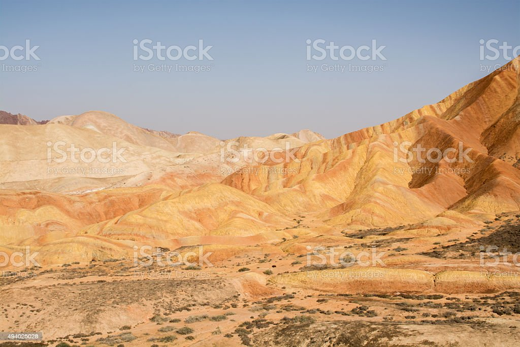 Zhangye Danxia National Geological Park, Gansu Province, China stock photo