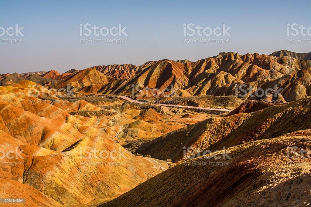Zhangye Danxia National Geological Park stock photo