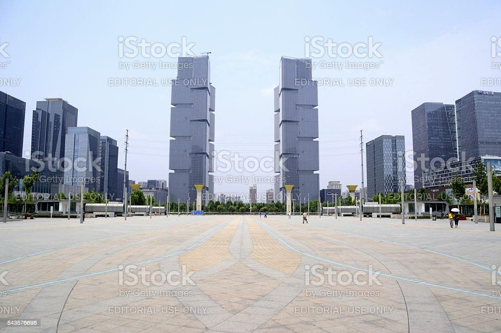 Zhengzhou Greenland Center, Henan, China stock photo