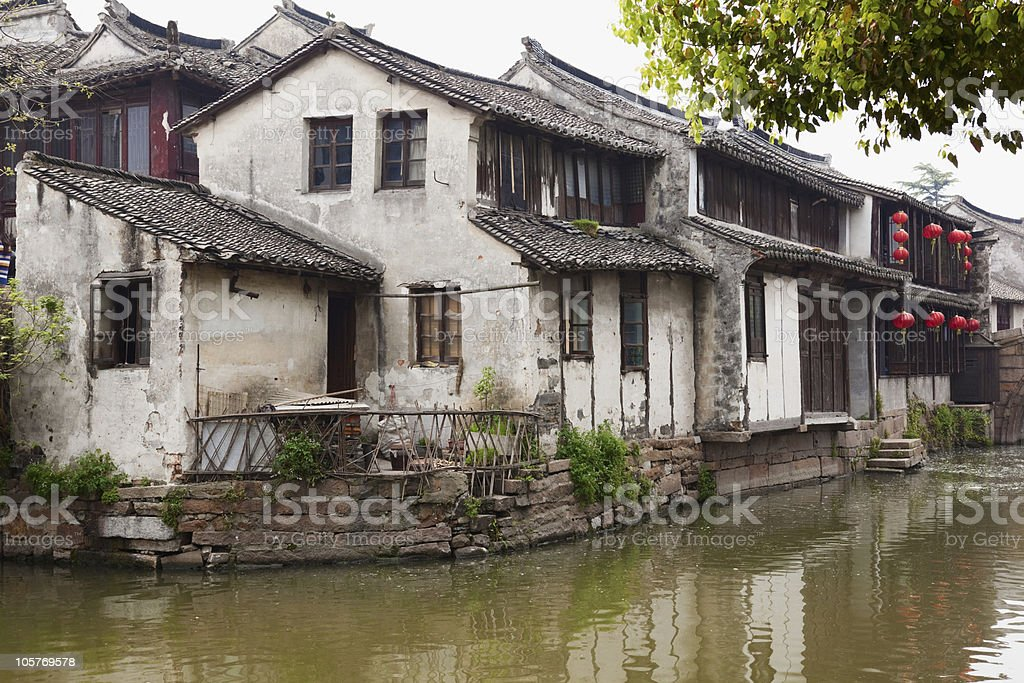 Zhouzhuang, famous village of China royalty-free stock photo