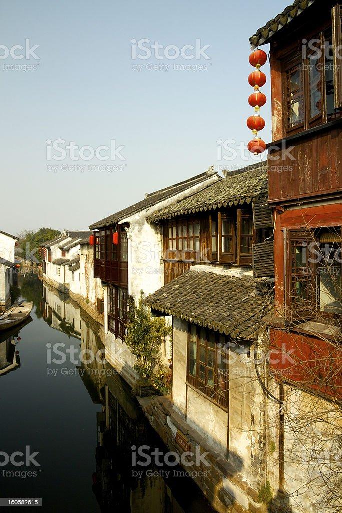 Zhouzhuang, Shanghai royalty-free stock photo