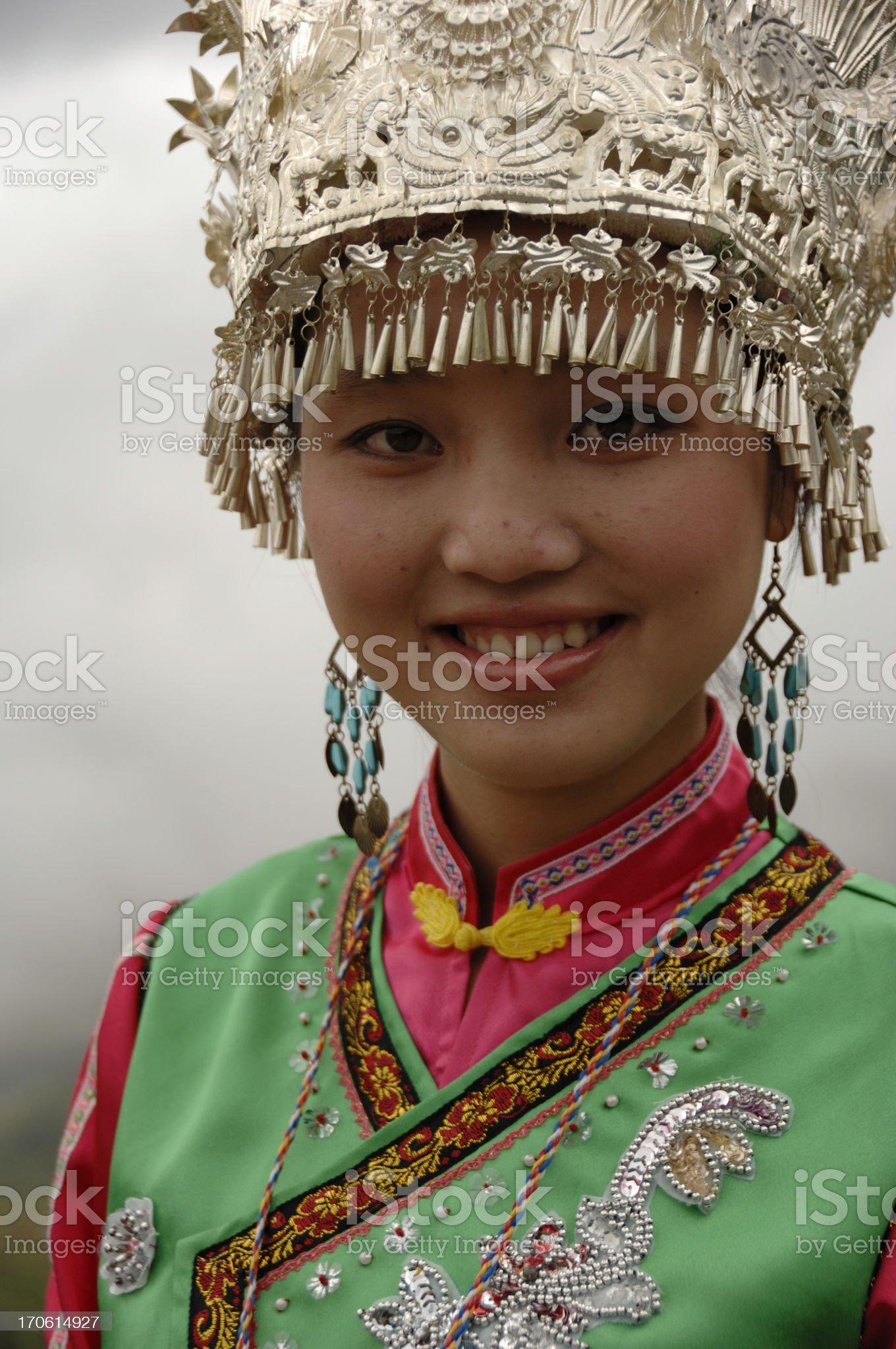 Zhuang minority girl - Longsheng, China royalty-free stock photo