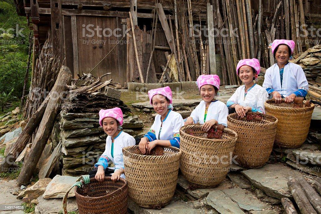 Zhuang Tribe Women stock photo