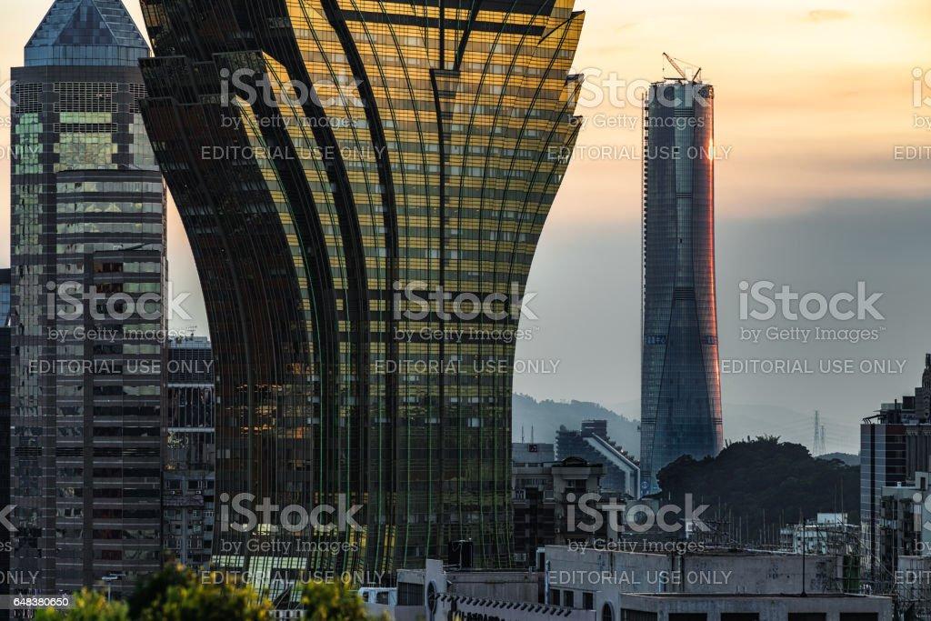 Zhuhai Center Sunset stock photo