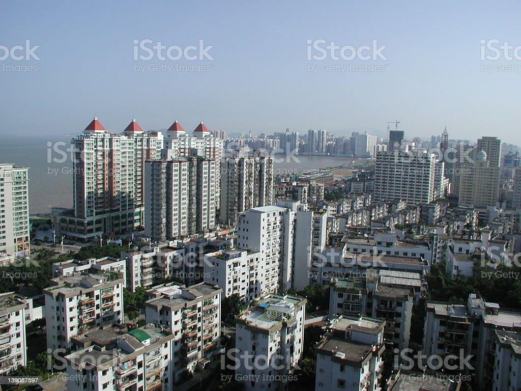 Zhuhai city buildings - South China stock photo