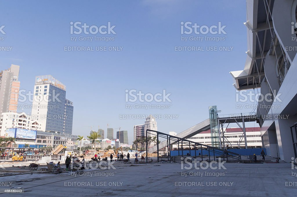 Zhuhai railway station stock photo