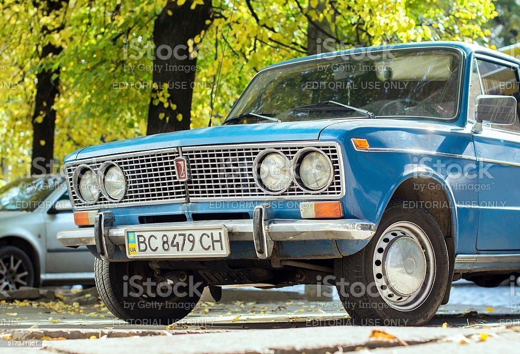 VAZ-2103 Zhyguli (Lada) sedan car stock photo