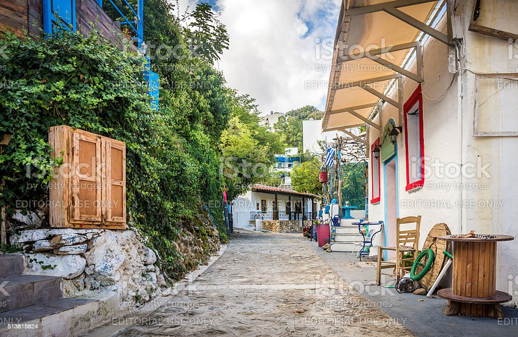 Zia village at Kos island stock photo