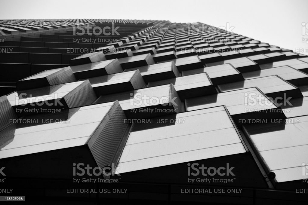 Zifeng Tower architectural details, Nanjing China stock photo