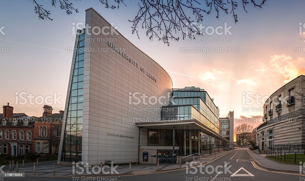 Ziff building - University of Leeds, UK stock photo