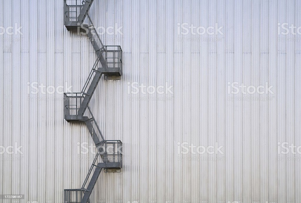 Zig Zag Fire escape stock photo